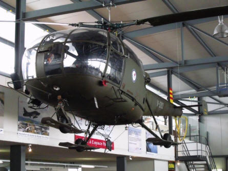 An French built Alouette helicopter displayed at the Museum of Military Aviation Payerne.