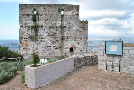 A section of the Moorish Castle in Gibraltar.