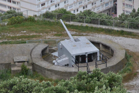 One of the World War II gun postions located at the Rock of Gibraltar.