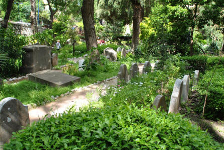 A section of the Trafalgar Cemetery in Gibraltar. The cemetery is unfortunately not very well maintained.