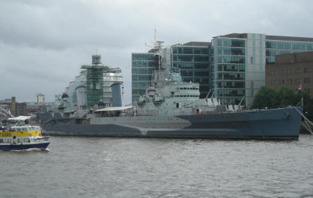 HMS Belfast was undergoing some major repairs in the summer of 2007.