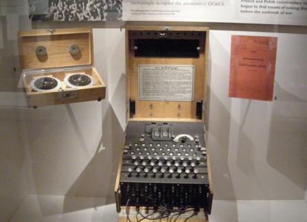 German World War II Enigma coding machine at the Imperial War Museum in London.