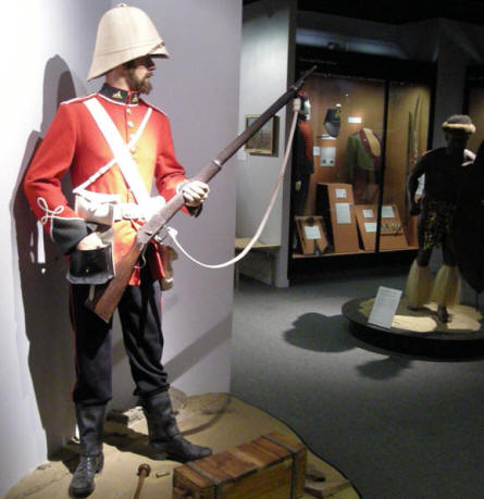 A British soldier from approx. 1900 at the National Army Museum in Chelsea.
