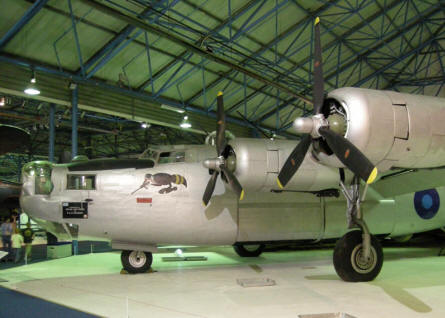 Consolidated B-24 Liberator at the RAF Museum at Hendon.