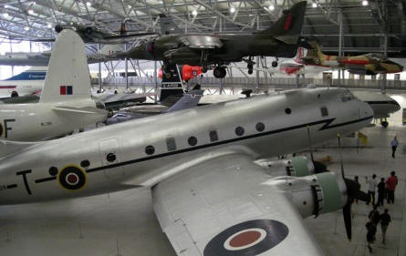 """AirSpace"" hall at Duxford. Large and smaller planes ""fight"" for the space within this huge hall."