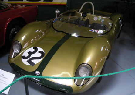 A classic Lotus race car at Bentley Wildfowl & Motor Museum.