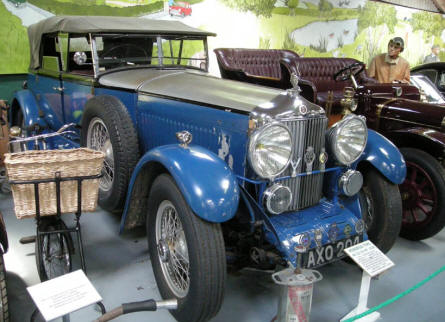 Some of the classic race cars at Bentley Wildfowl & Motor Museum.