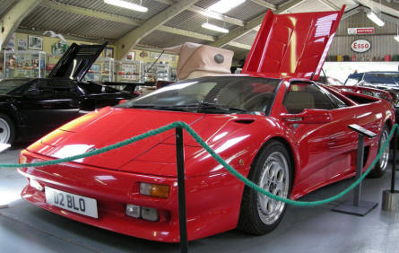 A Lamborghini Diablo at the Bentley Wildfowl & Motor Museum.
