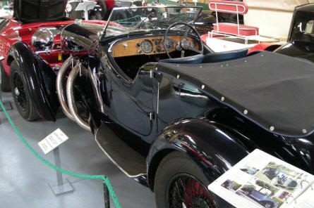 A 1937 Lagonda Rapide displayed at the Bentley Wildfowl & Motor Museum.