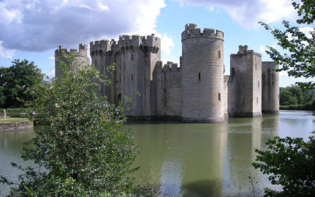 Bodiam Castle in the middle of the lake
