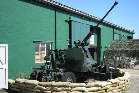 An old anti-aircraft gun at the RAF Manston History Museum.