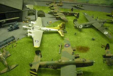 More models showing the World War II history at the RAF Manston History Museum.