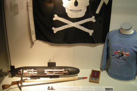 A part of the historic exhibition at the Royal Navy Submarine Museum at Gosport.