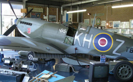 The Supermarine Spitfire at the Spitfire & Hurricane Memorial Museum at Manston.