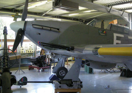 The Hawker Hurricane at the Spitfire & Hurricane Memorial Museum at Manston.