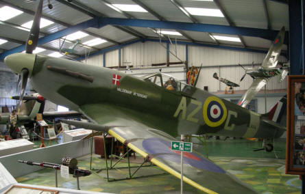 World War II Supermarine Spitfire at the Tangmere Military Aviation Museum.