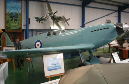 Prototype of Supermarine Spitfire at the Tangmere Military Aviation Museum.