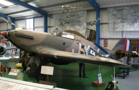 World War II Hawker Hurricane at the Tangmere Military Aviation Museum.
