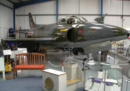 Supermarine Swift FR5 jet fighter at the Tangmere Military Aviation Museum.