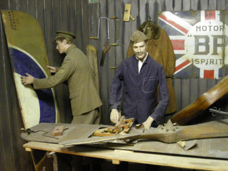 World War I aircraft repair shop at the Museum of Army Flying.