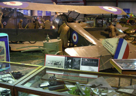 Sopwith aircraft from World War I at the Museum of Army Flying.