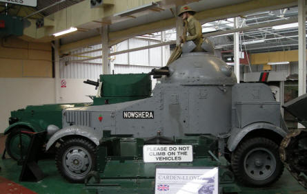 One of the very old armoured vehicles at Bovington Tank Museum.