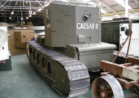 One of the World War I tanks at Bovington Tank Museum.